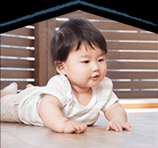 赤ちゃんも安心。換気システム。